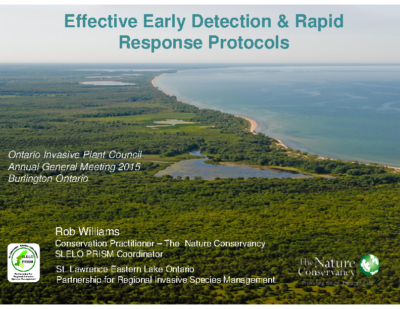 Effective Early Detection and Rapid Response Protocols